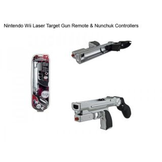 , Laser Target Gun for Nintendo Wii Remote and Nunchuk Controllers
