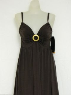 Coco Reef D Cup U w Large Maxi Full Length Dress Brown $118 Swimsuit