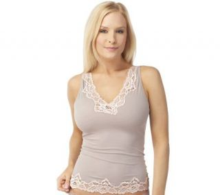 Breezies Curve & Contour by Flexees Two Tone Lace Cami —