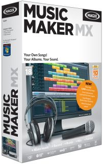 MAGIX MUSIC MAKER MX 18 PC MUSIC SOFTWARE BRAND NEW SEALED BOX