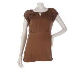 Linea by Louis DellOlio Scoopneck Cap Sleeve T shirt —