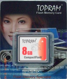 TOPRAM 8GB Compact Flash CF Card for Canon EOS Rebel XT