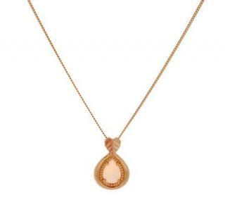 Hills Teardrop Shape Opal Pendant w/18 Chain 10K/12K Gold   J270518