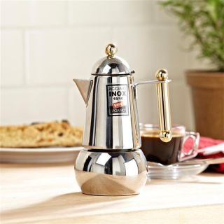 Itaca Oro 2 Cup Stainless Steel Stovetop Espresso Coffee Maker