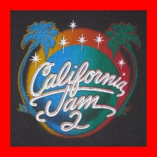 Vintage 1978 California Jam 2 Concert T Shirt Aerosmith Heart Ted