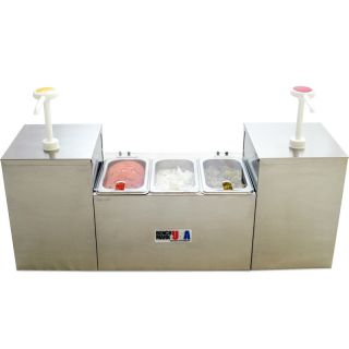 Section Condiment Holder Dispenser 2 Pump 3 Well Concession Station