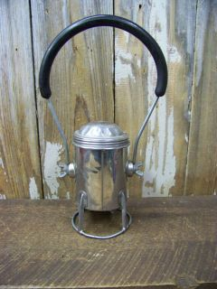 Vintage Old CONGER Battery Powered Railroad Lantern Chrome Patent