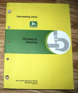 John Deere Corn Head Stalker Pickup Technical Manual JD