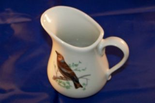 Cordon Bleu B I A White Pitcher Birds 4 1 2 inches Tall