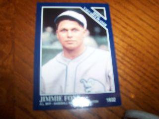 Jimmie Foxx   The Sporting News Conlon Collection 1993 (Most Valuable