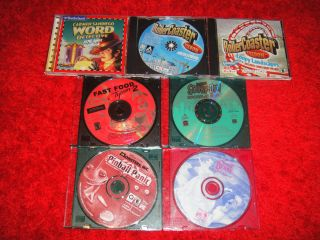 Lot of 7 Childrens Kids PC Computer Games Scooby Doo Disney
