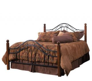 Hillsdale House Madison Queen Bed   Cherry Finish/Black —
