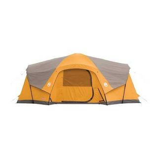 Coleman Camping Canyon Breeze 10 Person Family Cabin Waterproof Tent w
