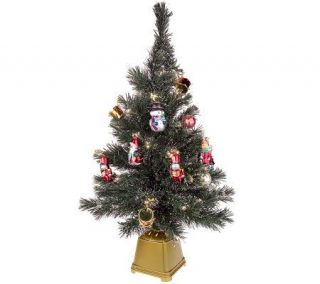 32 Fiber Optic Decorated Christmas Tree —