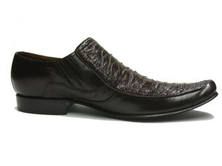 Mens Brown Genuine Ostrich Skin Leather Dress Shoes Exotic Oxfords