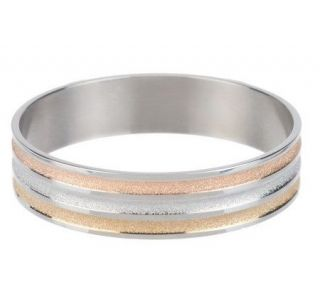Steel by Design Tri Color Round Bangle   J278034