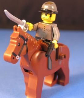 Lego® Brick Cus Civil War Confederate Cavalry Soldier B