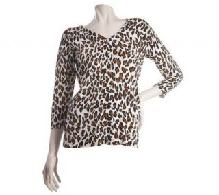 EffortlessStyle by Citiknits Animal Print Cardigan —