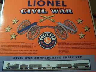 21901 Lionel Civil War Confederate Train Set