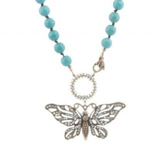 Kirks Folly Wings of Love Butterfly Necklace —