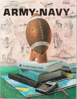 Vintage College Football Program 1977 Navy Army West Point
