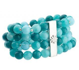 Isaac Mizrahi Live Marble Style Stretch Bead Bracelet —
