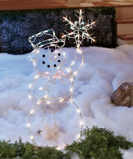 42 Lighted Snowman Holiday Yard Figures Outdoor Christmas Lawn Decor