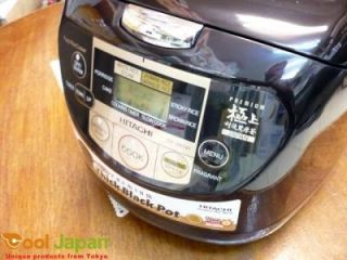 Japan Hitachi Brand Rice Cooker RZ XM18Y Warmer Steamer Black 10 Cups