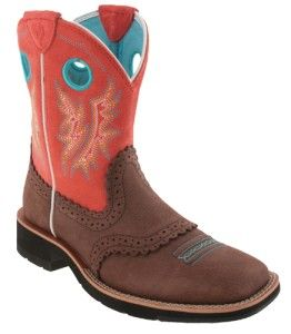 WOMENS ARIAT FATBABY COWGIRL WESTERN BOOTS 6,7,8,9,10,11~BROWN & PEACH