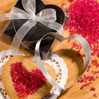 70 Heart Shaped Cookie Cutter Wedding / Bridal Shower Favors