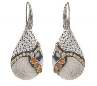 Andrea Brodi Sterling Pear Shape Gemstone Drop Earrings   J271839