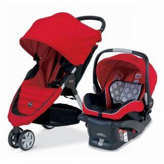 Britax B Agile B Safe Stroller Travel System Red Brand New