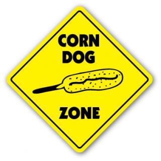 Corn Dog Zone Sign Vendor Trailer Concessions Carnival Restaurant Food