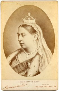 Queen Victoria Great Britain Royal Royalty 1880s Cabinet Card Photo