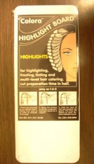 Colora Hair Coloring Highlight Board 4 x 10 3 Pks