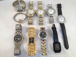 Costume Jewelry 10 Assorted Watches 4 Womens 6 MenS