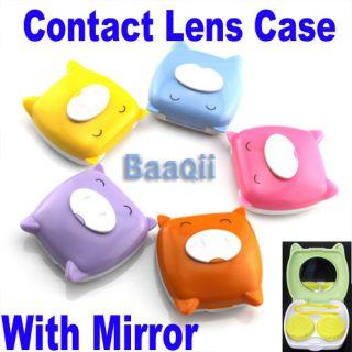 Contact Lens Lenses Travel Case Set Soaking Storage Mirror Container