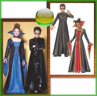 Childs Gothic Matrix Vampiress Costume Patterns 12 16