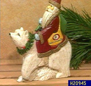 Santa Riding a Polar Bear Table Decoration —