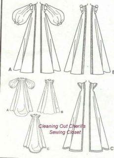Renaissance Coats Costume XS s M Uncut Sewing Pattern Medieval
