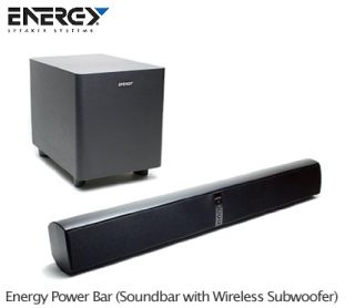 CLEARANCE Energy Power Bar Wireless 8 Subwoofer Learns Your TV Remote
