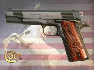 COLT 45 MODEL 1911 CUSTOM SUPER ROSEWOOD GRIPS NEW *RARE BAT WING