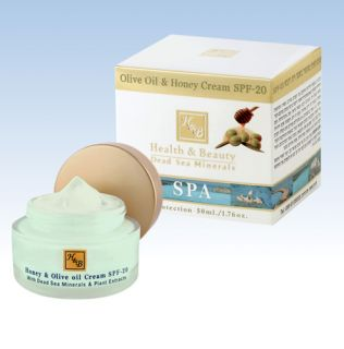 Dead Sea Cosmetic live Oil Honey Cream SPF 20 face neck skin Body Care