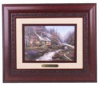 Twilight Cottage Brushworks Canvas by Thomas Kinkade —