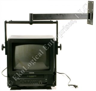 Toshiba MV13M2 13 Color TV VCR Combo w Heavy Duty Wall Mount