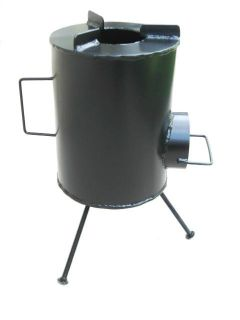 Grover Rocket Stove Removable Legs Wood Cooking Stove