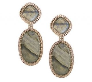 VicenzaGold Labradorite Drop Earrings 14K Gold —