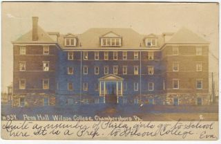Real Photo Penn Hall Wilson College Chambersburg PA