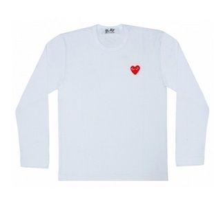 Comme Des Garcons CDG Play T Shirt White Long Sleeve Sz M L XL