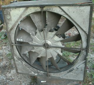 Antique Vintage Industrial Huge Wall Box Fan Awesome Blade Design